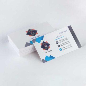 طرح لایه باز کارت ویزیت آبی و سفید