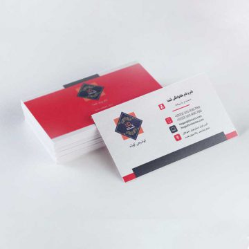کارت ویزیت شرکتی قرمز و مشکی