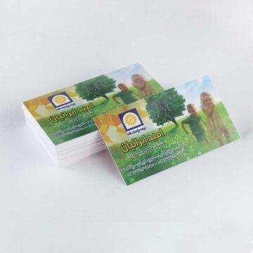 کارت ویزیت لایه باز بیمه پاسارگاد